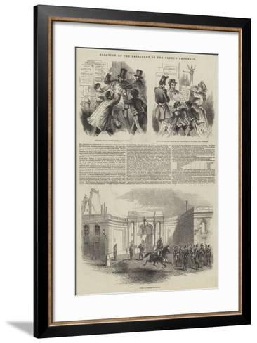 Election of the President of the French Republic--Framed Art Print