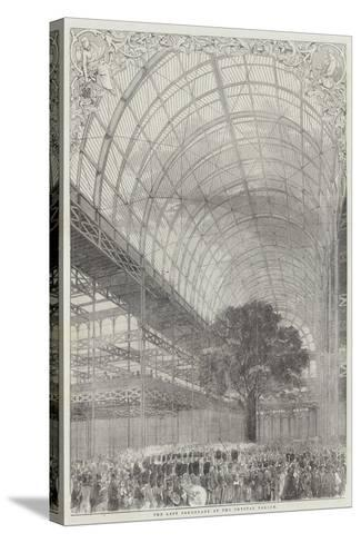 The Last Promenade at the Crystal Palace--Stretched Canvas Print