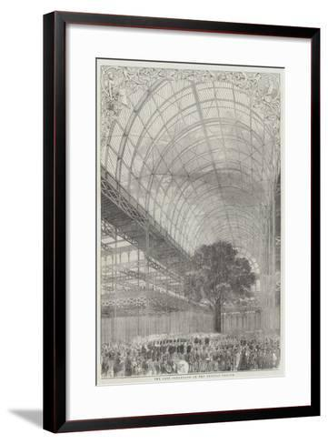 The Last Promenade at the Crystal Palace--Framed Art Print