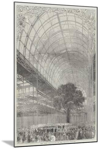 The Last Promenade at the Crystal Palace--Mounted Giclee Print