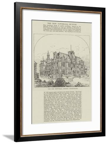 The New Townhall, Buxton, Derbyshire--Framed Art Print