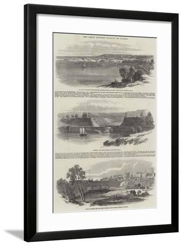 The Great Western Railway of Canada--Framed Art Print
