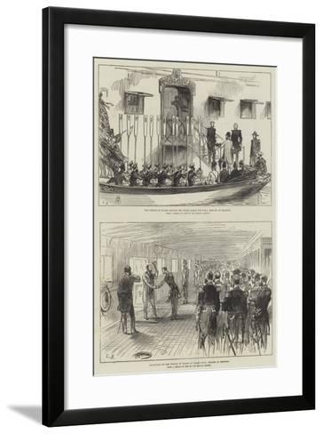 Visit of the Prince of Wales to India--Framed Art Print