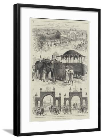 Visit of Viceroy of India to Jeypore--Framed Art Print