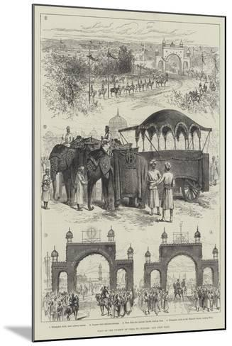 Visit of Viceroy of India to Jeypore--Mounted Giclee Print