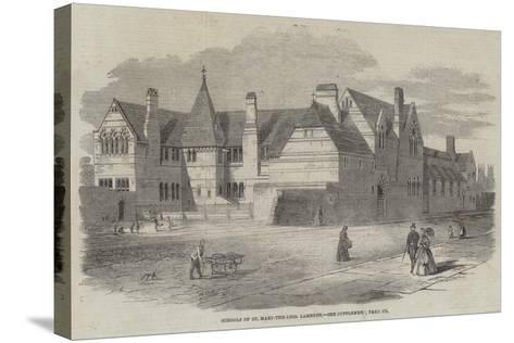 Schools of St Mary-The-Less, Lambeth--Stretched Canvas Print