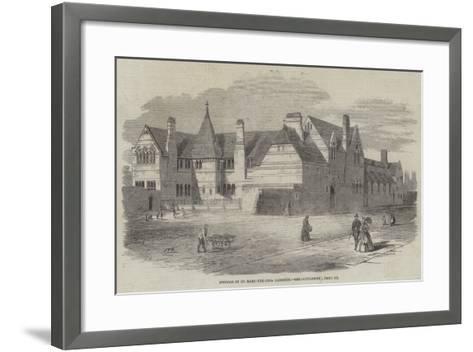 Schools of St Mary-The-Less, Lambeth--Framed Art Print