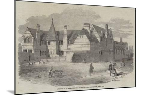 Schools of St Mary-The-Less, Lambeth--Mounted Giclee Print
