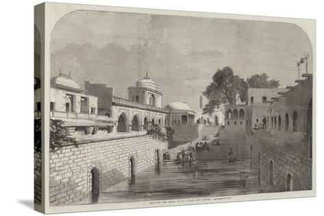 Baolee, or Open Bath, Near Old Delhi--Stretched Canvas Print