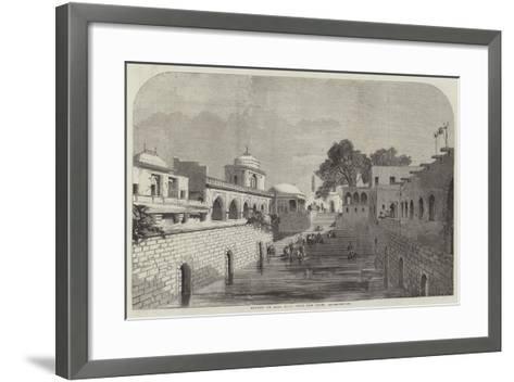 Baolee, or Open Bath, Near Old Delhi--Framed Art Print