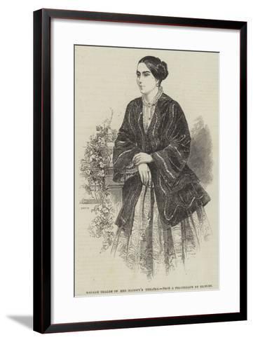 Madame Ugalde of Her Majesty's Theatre--Framed Art Print