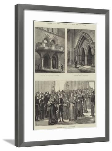 Opening of the Royal Courts of Justice--Framed Art Print