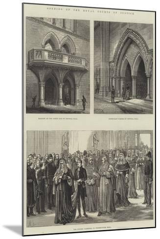 Opening of the Royal Courts of Justice--Mounted Giclee Print