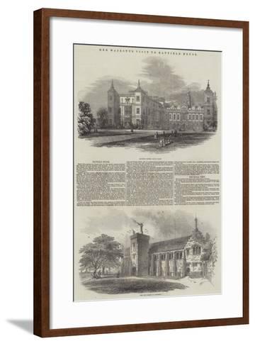 Her Majesty's Visit to Hatfield House--Framed Art Print