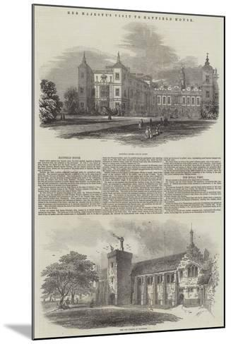 Her Majesty's Visit to Hatfield House--Mounted Giclee Print