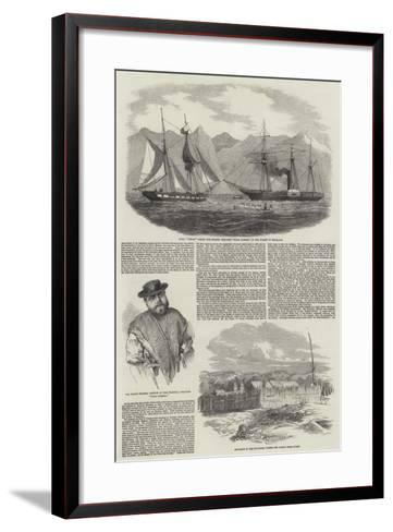 Capture of Magellan Pirates by HMS Virago--Framed Art Print