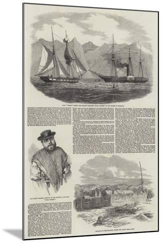 Capture of Magellan Pirates by HMS Virago--Mounted Giclee Print