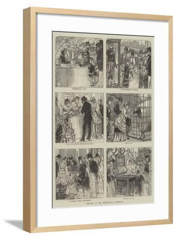 Sketches in the International Exhibition--Framed Art Print