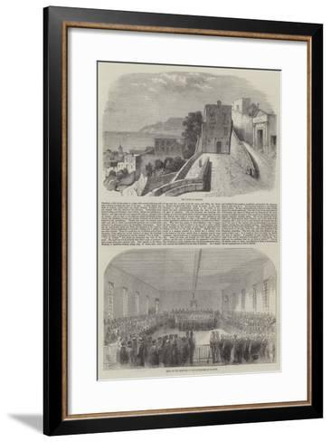 The Trial of English Engineers at Salerno--Framed Art Print