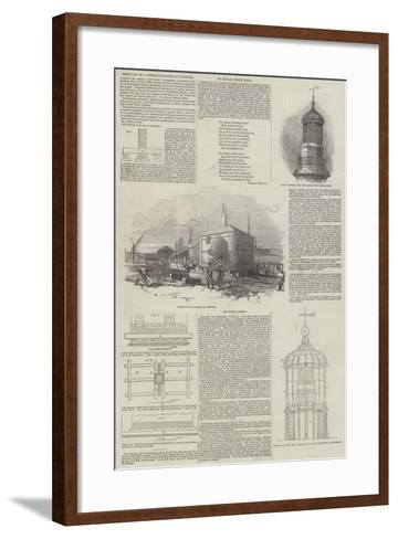 Removal of a Dwelling-House at Ipswich--Framed Art Print