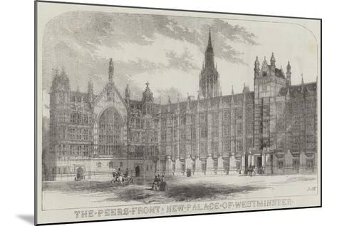 The Peers Front New Palace of Westminster--Mounted Giclee Print