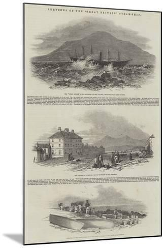 Sketches of the Great Britain Steam-Ship--Mounted Giclee Print