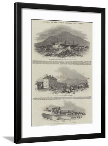 Sketches of the Great Britain Steam-Ship--Framed Art Print