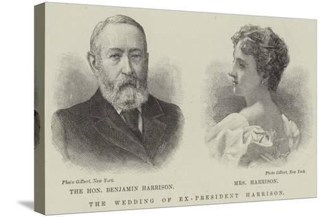 The Wedding of Ex-President Harrison--Stretched Canvas Print