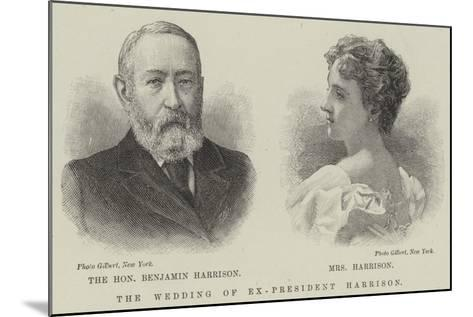 The Wedding of Ex-President Harrison--Mounted Giclee Print