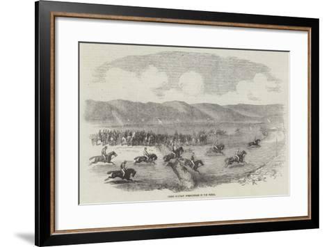 Grand Military Steeplechase in the Crimea--Framed Art Print