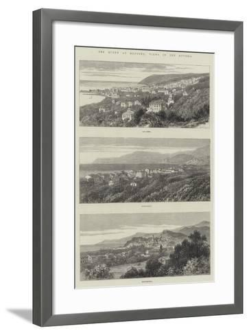 The Queen at Mentone, Views in the Riviera--Framed Art Print