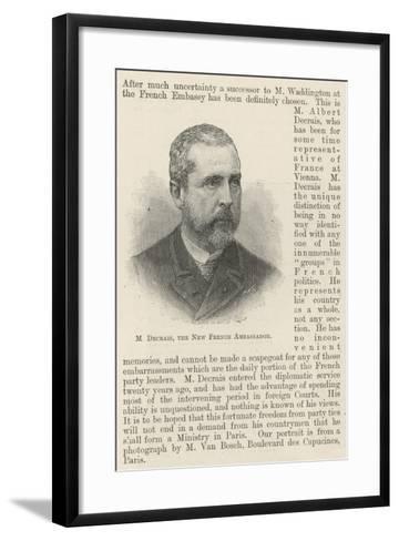 M Decrais, the New French Ambassador--Framed Art Print
