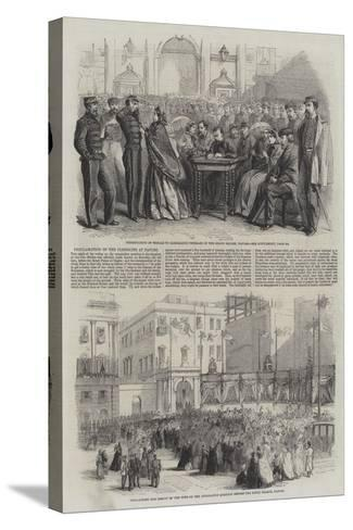 Proclamation of the Plebiscite at Naples--Stretched Canvas Print