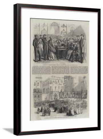 Proclamation of the Plebiscite at Naples--Framed Art Print