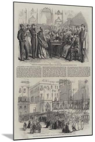 Proclamation of the Plebiscite at Naples--Mounted Giclee Print