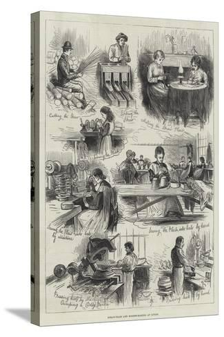 Straw-Plait and Bonnet-Making at Luton--Stretched Canvas Print
