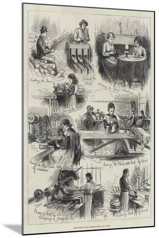 Straw-Plait and Bonnet-Making at Luton--Mounted Giclee Print