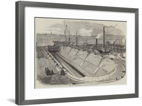 Dock No 2 at Chatham Yard, Recently Opened--Framed Art Print