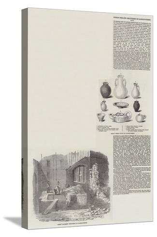 Roman Remains Discovered in Cannon Street--Stretched Canvas Print
