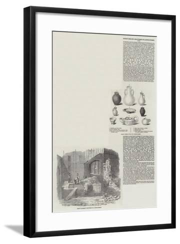 Roman Remains Discovered in Cannon Street--Framed Art Print