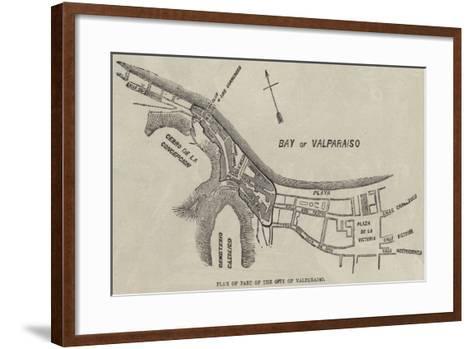 Plan of Part of the City of Valparaiso--Framed Art Print
