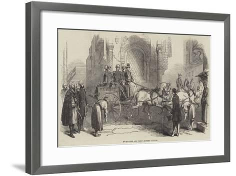 His Highness Said Pacha's English Curricle--Framed Art Print