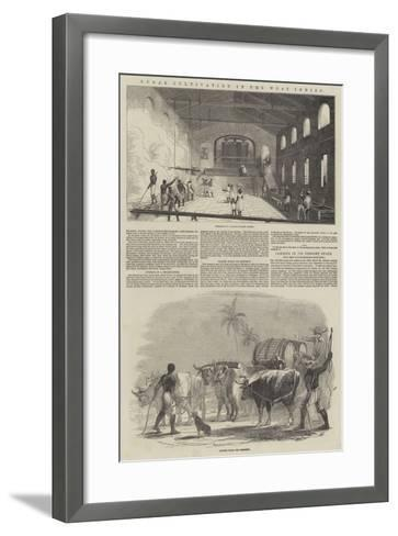 Sugar Cultivation in the West Indies--Framed Art Print