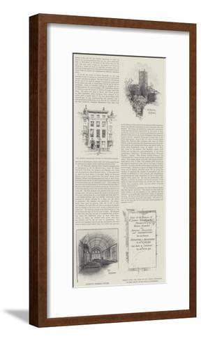 The Centenary of Sir Joshua Reynolds--Framed Art Print