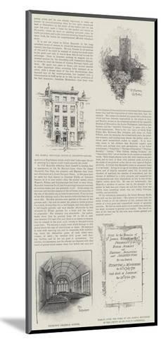 The Centenary of Sir Joshua Reynolds--Mounted Giclee Print