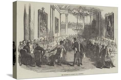 The Collation in Cutlers' Hall, Sheffield--Stretched Canvas Print