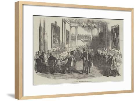 The Collation in Cutlers' Hall, Sheffield--Framed Art Print