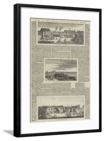 Fire in the Strand, Site of Arundel House--Framed Art Print