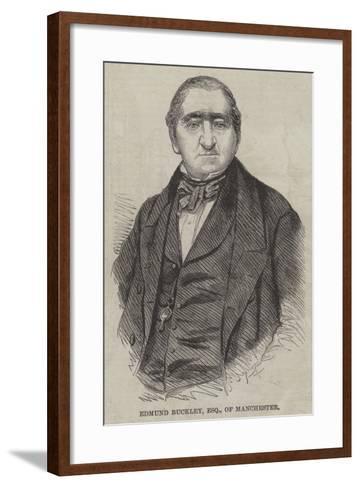 Edmund Buckley, Esquire, of Manchester--Framed Art Print