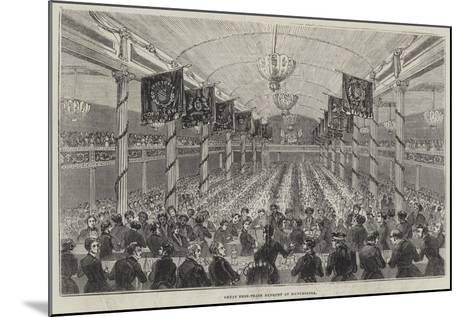 Great Free-Trade Banquet at Manchester--Mounted Giclee Print